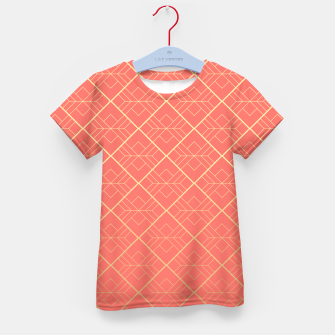Thumbnail image of LIVING CORAL AND GOLD Kid's t-shirt, Live Heroes