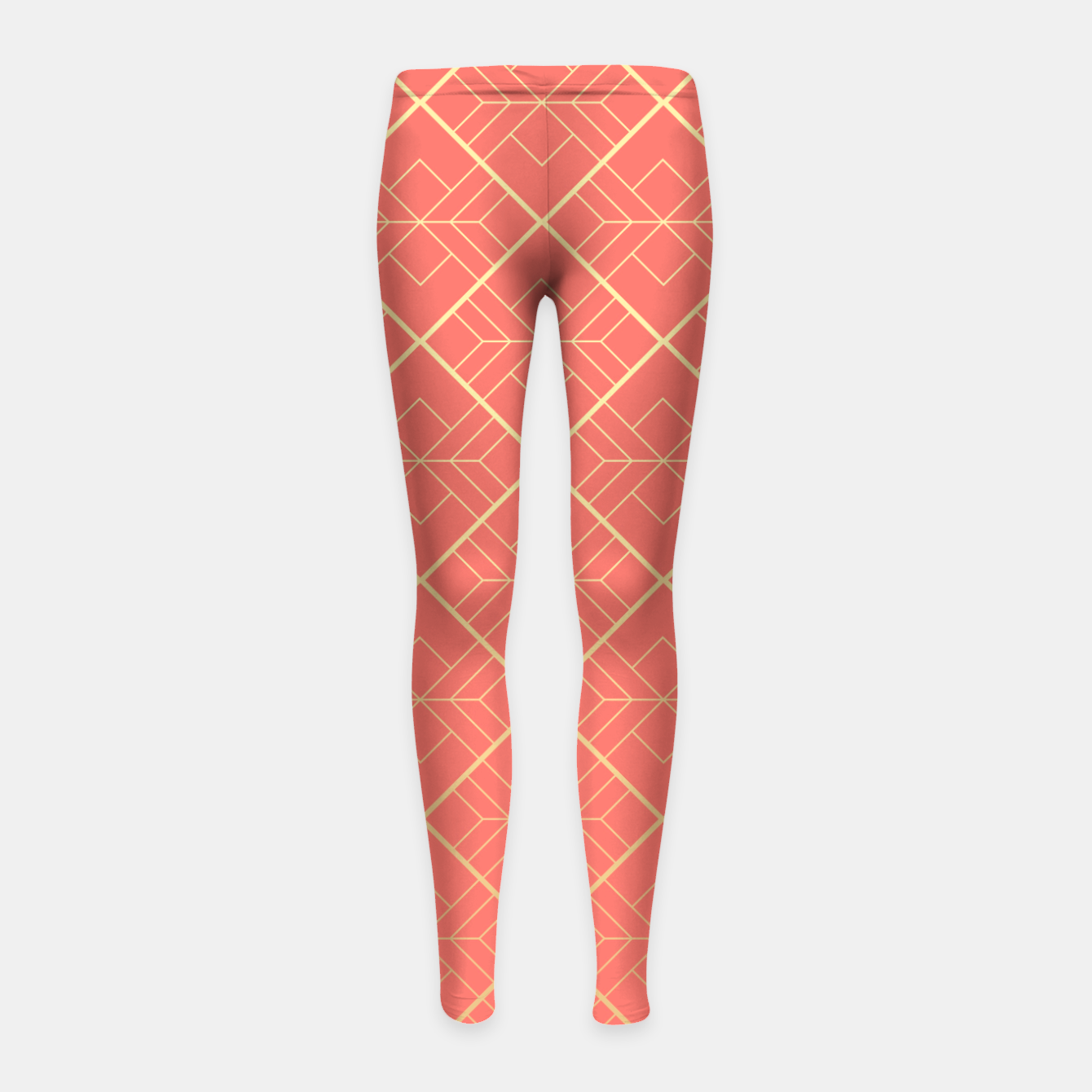 Image of LIVING CORAL AND GOLD Girl's leggings - Live Heroes