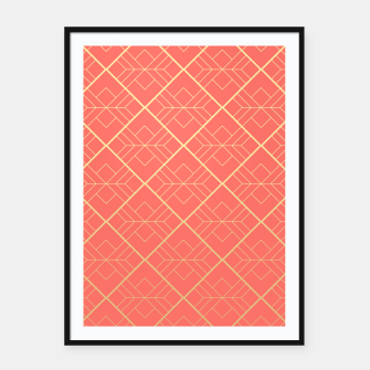 LIVING CORAL AND GOLD Framed poster thumbnail image