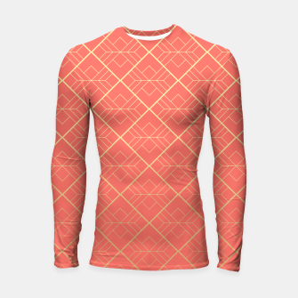 LIVING CORAL AND GOLD Longsleeve rashguard  thumbnail image