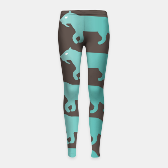Thumbnail image of CheshireSol Twitch TV Emoji 2 Blue Girl's leggings, Live Heroes