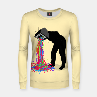 Thumbnail image of Pixel Vomit Women sweater, Live Heroes