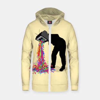 Thumbnail image of Pixel Vomit Zip up hoodie, Live Heroes