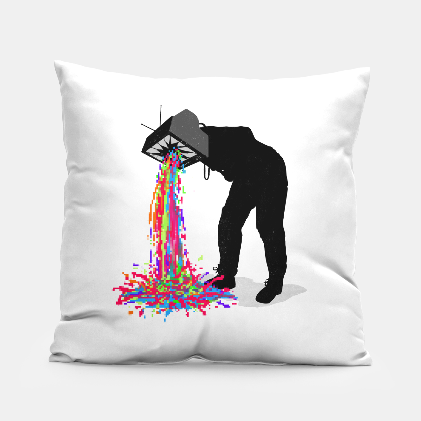 Image of Pixel Vomit Pillow - Live Heroes