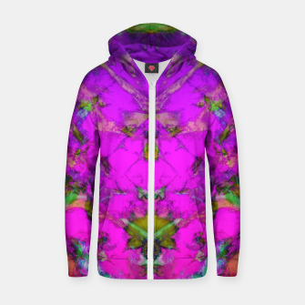 Little pink symmetry Zip up hoodie thumbnail image