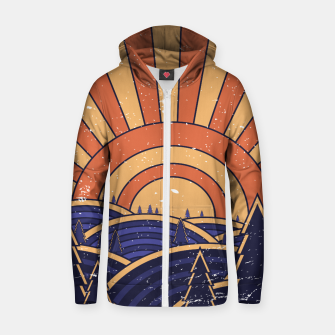 Thumbnail image of 70s Retro Landscape Zip up hoodie, Live Heroes