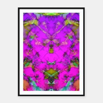 Little pink symmetry Framed poster thumbnail image