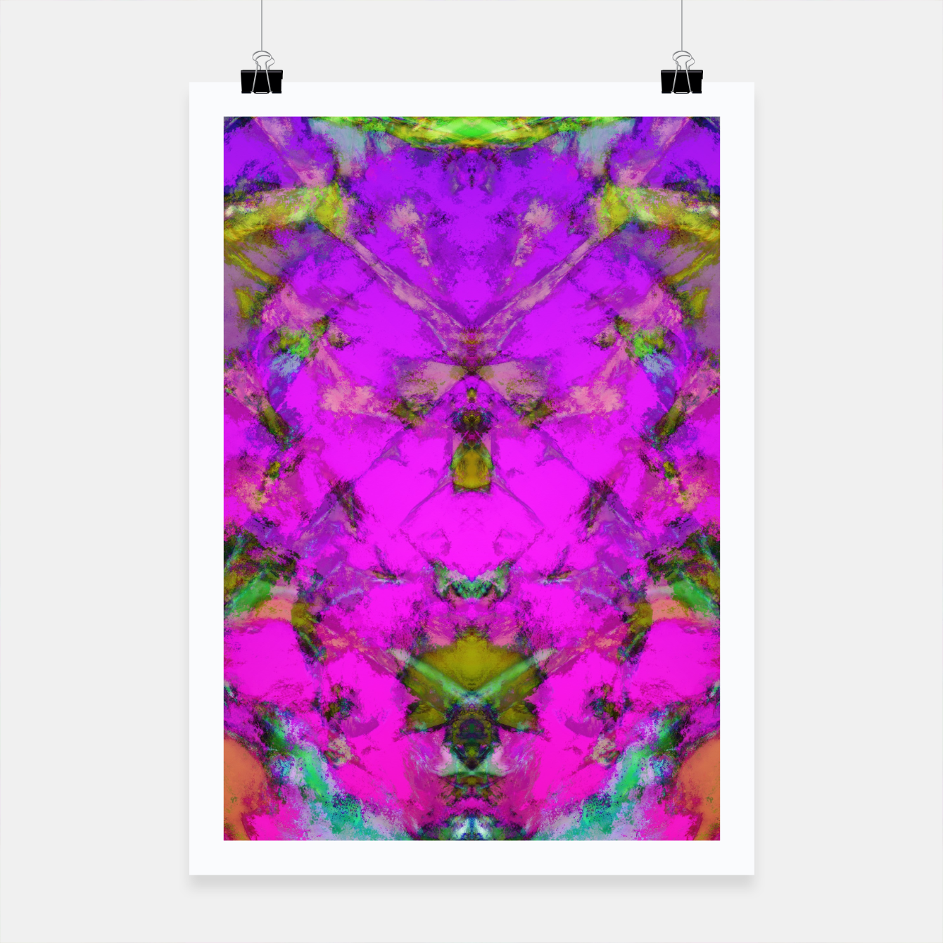 Image of Little pink symmetry Poster - Live Heroes