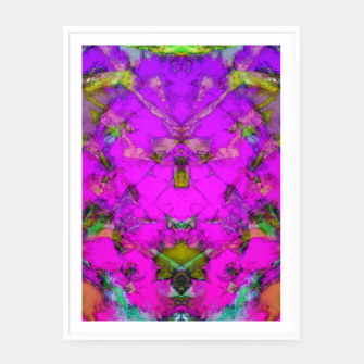 Thumbnail image of Little pink symmetry Framed poster, Live Heroes