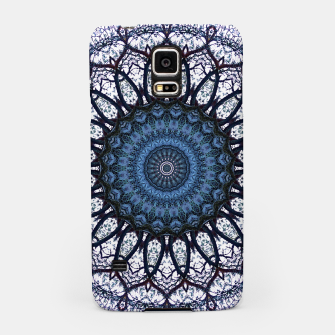 Nature mandala blue bloom Samsung Case Bild der Miniatur