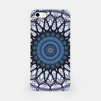 Nature mandala blue bloom iPhone Case Bild der Miniatur