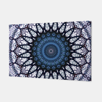 Nature mandala blue bloom Canvas Bild der Miniatur