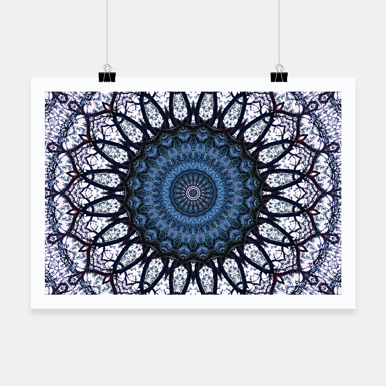 Foto Nature mandala blue bloom Poster - Live Heroes
