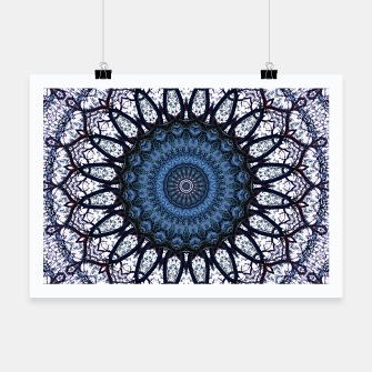 Nature mandala blue bloom Poster Bild der Miniatur