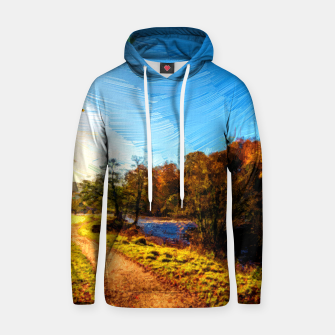 Thumbnail image of yorkshire river autumn digital oil painting Hoodie, Live Heroes