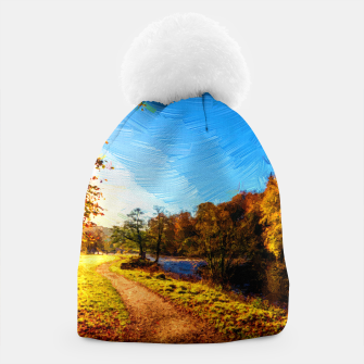 Thumbnail image of yorkshire river autumn digital oil painting Beanie, Live Heroes