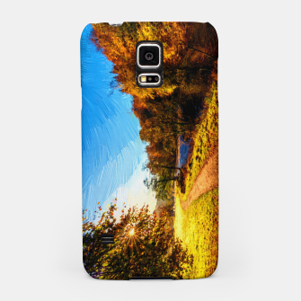 Thumbnail image of yorkshire river autumn digital oil painting Samsung Case, Live Heroes