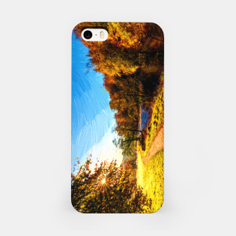 Thumbnail image of yorkshire river autumn digital oil painting iPhone Case, Live Heroes