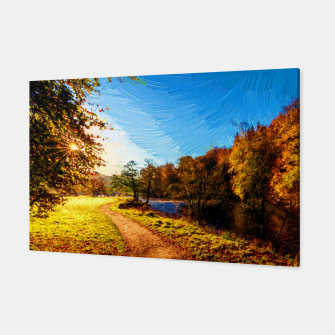 Thumbnail image of yorkshire river autumn digital oil painting Canvas, Live Heroes