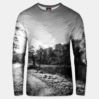 Thumbnail image of yorkshire river autumn digital oil painting black white Unisex sweater, Live Heroes
