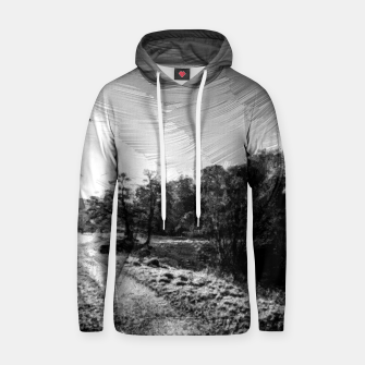 Thumbnail image of yorkshire river autumn digital oil painting black white Hoodie, Live Heroes