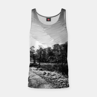 Thumbnail image of yorkshire river autumn digital oil painting black white Tank Top, Live Heroes