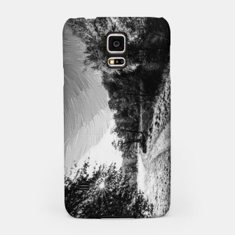 Thumbnail image of yorkshire river autumn digital oil painting black white Samsung Case, Live Heroes