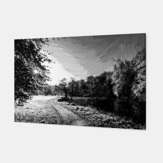 Thumbnail image of yorkshire river autumn digital oil painting black white Canvas, Live Heroes