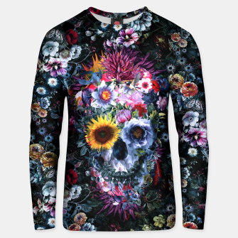 Thumbnail image of Voodoo Skull Floral Unisex sweater, Live Heroes