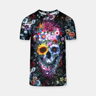 Thumbnail image of Voodoo Skull Floral T-shirt, Live Heroes