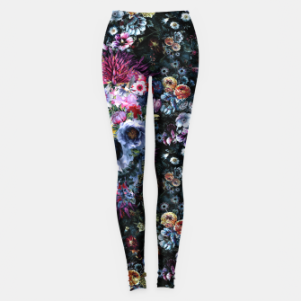 Voodoo Skull Floral Leggings miniature