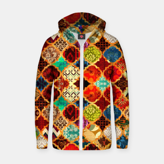 Miniatur Epic Colored Traditional Moroccan Artwork. Zip up hoodie, Live Heroes