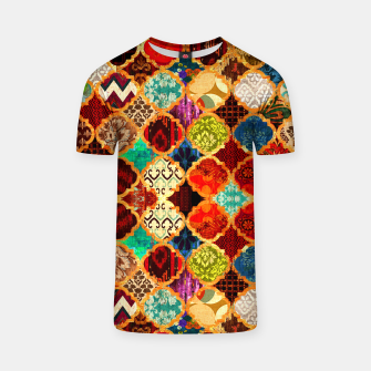 Miniatur Epic Colored Traditional Moroccan Artwork. T-shirt, Live Heroes