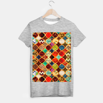 Miniatur Epic Colored Traditional Moroccan Artwork. T-shirt regular, Live Heroes