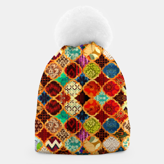 Thumbnail image of Epic Colored Traditional Moroccan Artwork. Beanie, Live Heroes