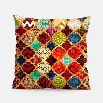 Miniatur Epic Colored Traditional Moroccan Artwork. Pillow, Live Heroes