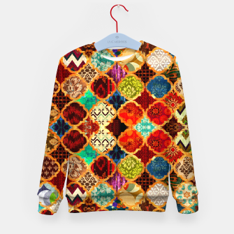 Thumbnail image of Epic Colored Traditional Moroccan Artwork. Kid's sweater, Live Heroes