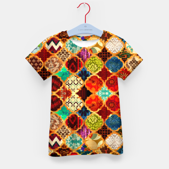 Thumbnail image of Epic Colored Traditional Moroccan Artwork. Kid's t-shirt, Live Heroes