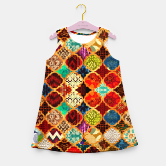 Miniatur Epic Colored Traditional Moroccan Artwork. Girl's summer dress, Live Heroes