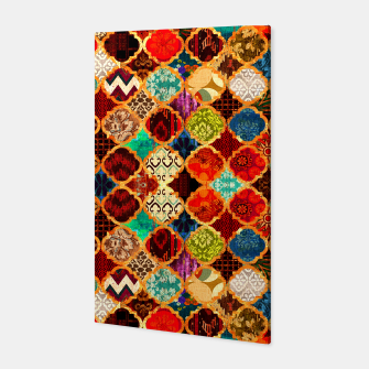 Miniatur Epic Colored Traditional Moroccan Artwork. Canvas, Live Heroes