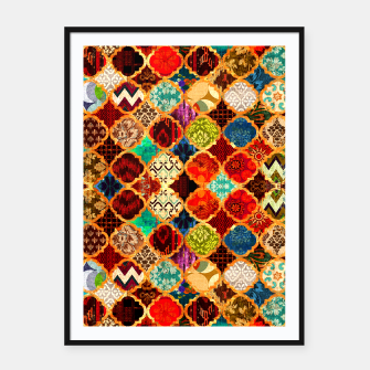 Miniatur Epic Colored Traditional Moroccan Artwork. Framed poster, Live Heroes