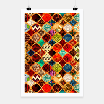 Miniatur Epic Colored Traditional Moroccan Artwork. Poster, Live Heroes