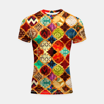 Thumbnail image of Epic Colored Traditional Moroccan Artwork. Shortsleeve rashguard, Live Heroes