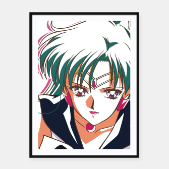 Thumbnail image of Sailor Pluto Framed poster, Live Heroes