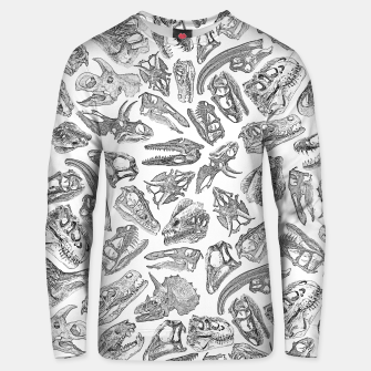 Paleontology Dream Dinosaur Fossil Skulls Pattern Unisex sweater thumbnail image