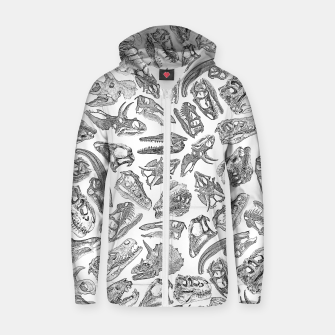 Paleontology Dream Dinosaur Fossil Skulls Pattern Zip up hoodie thumbnail image