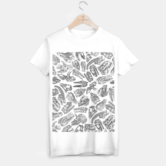 Paleontology Dream Dinosaur Fossil Skulls Pattern T-shirt regular thumbnail image