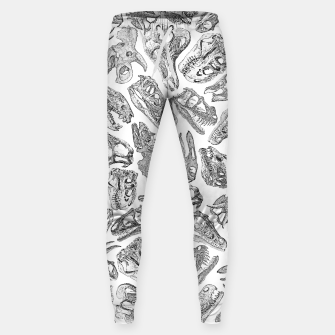Paleontology Dream Dinosaur Fossil Skulls Pattern Sweatpants thumbnail image