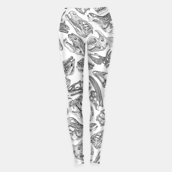 Paleontology Dream Dinosaur Fossil Skulls Pattern Leggings thumbnail image