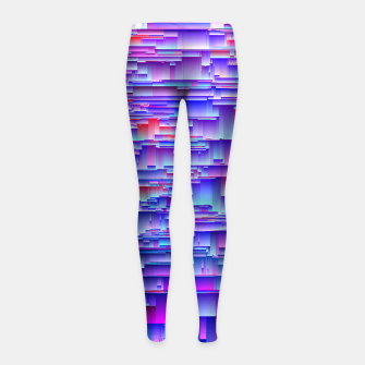 Miniatur Squiffy Glitches Girl's leggings, Live Heroes